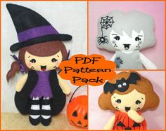 PRICE DEAL 50% OFF! Offer ends midnight GMT 03/07/16 PDF Pattern  Witch Girl Ghost Girl & by EmmaIrlamCrafts