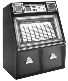 """1984, Rowe-AMI's Model R-88 jukeboxes were debuted at """"The Palace, one of the Los Angeles area's hottest rock clubs."""" [Jukebox Collector]"""