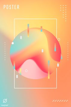 Summer gradient poster template vector premium image by rawpixel com - Web Design, Graphic Design Layouts, Graphic Design Posters, Layout Design, City Poster, Poster S, Branding, Summer Poster, Design Typography