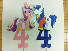 Princess Cadence and Shining Armor Smash Cake Toppers