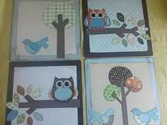 owl and songbird wall hangings