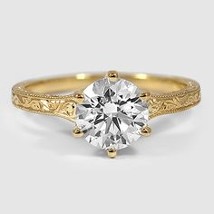 engagement round kfsy gift solid wedding milgrain diamond rings ring jewellery her il band rose promise shaped cut gold for moissanite