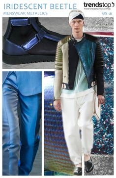 WeConnectFashion Trends| MENSWEAR METALLICS, SS 2016 COLOR. TRENDSTOP.COM, International Trend Forecasting Report For Fashion Business