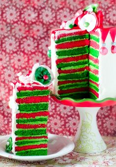 I will make this cake and succeed this year!!!  Last year, way too much food coloring made the layers slide off all over.
