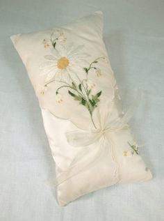 Oblong Handkerchief Ring Pillow by cabcomp on Etsy, $25.00