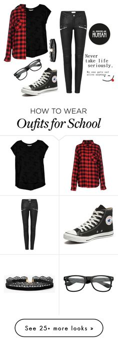 """""""I HATE school dances"""" by sparkle-septiceye on Polyvore featuring Bobeau, Sweet Skateboards, Converse, ZeroUV, Azalea and Zone"""