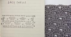 ByHaafner, carta de ganchillo, modelo, conchas de encaje