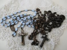 Broken rosary x 3 Destash by Nkempantiques on Etsy
