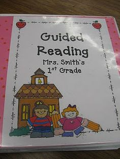 Great way to organize guided reading materials