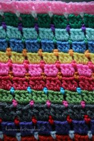 homemade@myplace: Block Stitch Afghan : the way I do it !!!! An excellent instruction page.