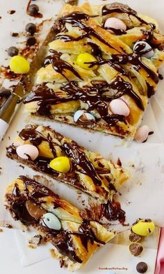 Quick and Easy Easter Chocolate Braid made with 6 ingredients- Easy and Delish Easy Easter Recipes, Easter Dinner Recipes, Easter Brunch, Brunch Recipes, Cake Recipes, Dessert Recipes, Desserts, Baking Recipes, Brunch Food