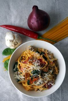 Beach House Kitchens, Home Kitchens, I Love Food, Pasta, Tofu, Ethnic Recipes, Kitchen, Noodles, Pasta Dishes