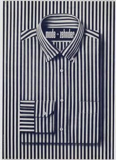 Striped shirt poster