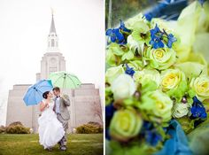 Rainy Day Bride and Groom Boston LDS Temple by MegRuth, via Flickr