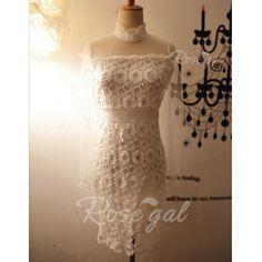 Vintage Ruff Collar Floral Pattern Long Sleeves Women's Bodycon DressVintage Dresses | RoseGal.com