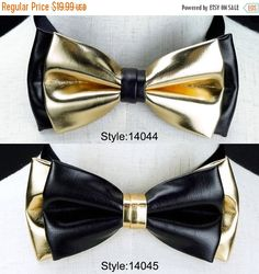 Xmas Sale leather bow tie wedding bow tie bowties groom by CKbow