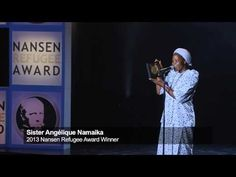Sister Angélique - Nansen Refugee Award Ceremony - UN High Commissioner for Refugees António Guterres presented Sister Angélique Namaika of the Democratic Republic of the Congo (DRC) with the  prestigious Nansen Refugee Award in Geneva on Monday night September 30, 2013.