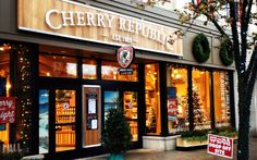 Cherry Republic - a must visit spot. The original location in Glen Arbor has a cafe with great cherry chicken salad sandwiches.