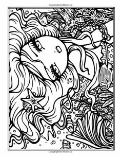 Blank Coloring Pages, Fairy Coloring Pages, Coloring Sheets, Coloring Books, Hannah Lynn, Doodle Art Drawing, Color Inspiration, Drawings, Cartoons