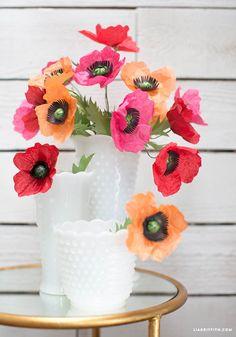 Tissue Paper Poppies