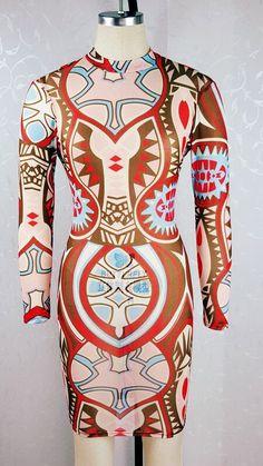 Womens Vintage Tattoo Print Gauze See Through Sheath Bodycon Dress Sexy Club Dress Elegant Casual Prom Party Dresses Robe
