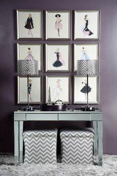 Fashion Your Walls contemporary powder room