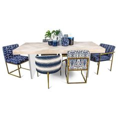 Amalfi Dining Table with Plinth Lucite Legs