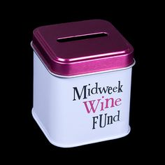 Midweek Wine Fund Tin. A great gift idea for Christmas. www.athomeshopping.co.uk £2.99
