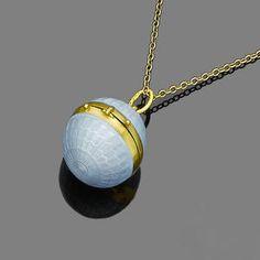 An enamel pendant necklace, by Marius Hammer,