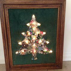 Vintage Jewelry Christmas Tree by TwoVintageHens on Etsy