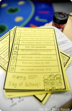 Cara Carrolls 100th day stations