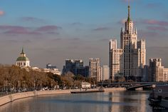 Moscow river and the sister