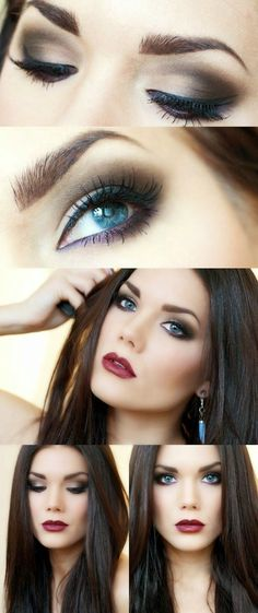 Classic smokey eye with vampy lips