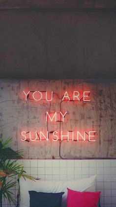 iPhone and Android Wallpapers: Sunshine Quote Wallpaper for iPhone and Android - Wallpaper Quotes Samsung Wallpapers, Wallpaper Iphone Neon, Tumblr Wallpaper, Aesthetic Iphone Wallpaper, Wallpaper S, Aesthetic Wallpapers, Cute Wallpapers, Wallpaper Backgrounds, Wallpaper Iphone Quotes Songs