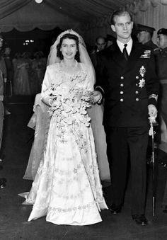 Queen Elizabeth's wedding day