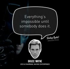 """Batman is lean! Quote from Batman begins: """"Why do we fall, Bruce? So we can learn to pick ourselves back up. Startup Quotes, Business Quotes, Famous Quotes, Best Quotes, Awesome Quotes, Best Batman Quotes, Thought Cloud, Wayne Enterprises, Motivational Quotes"""