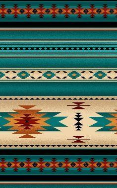 Southwest Turquoise, Orange Blanket Stripe, Navaho Designs, Tucson, By Yard~ Native American Decor, Native American Patterns, American Indian Art, Native American Indians, Southwestern Blankets, Southwest Quilts, Southwest Decor, Southwestern Fabric, Southwest Style