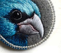 This beautiful and unique brooch is totally handmade by me with love and lots of care, felting needle and hand-embroidered.  Brooch is light weight.