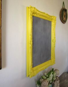 Chalkboard Magnetic Chalkboard Memo Board by ShabbyVintageMom, $72.00