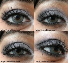 Silver and Black Smokey Eyes