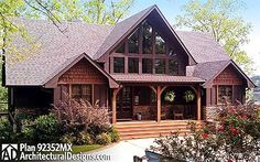 1989 sq ft. Mark's favorite. Love the screened porch off MBR/LR. Not sure how I feel about walking in front door straight into kitchen/dr/lr (all one giant room). This plan has 3 BR.