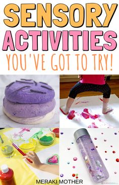 Affordable Sensory Play Activities for Children's Brain Development Sensory Activities For Preschoolers, Infant Sensory Activities, Fine Motor Activities For Kids, Creative Activities For Kids, Craft Projects For Kids, Crafts For Teens, Kids Learning, Montessori Activities, Free Activities