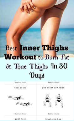 Best Inner Thighs Workout to Burn Fat Fast & Tone Thighs in 30 Days | Posted By: CustomWeightLossProgram.com