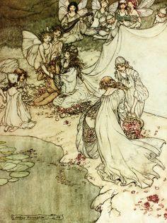 Arthur Rackham - A Midsummer Night's Dream (She never had so sweet a changeling) 1908 (2 of 30)