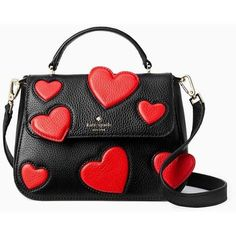 Kate Spade Be Mine Heart Small Alexya ($298) ❤ liked on Polyvore featuring jewelry, bags, kate spade, heart-shaped jewelry, valentines day jewelry, kate spade jewelry and heart jewelry