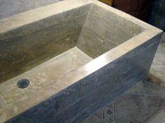concrete bath tubs   Poured-in-place concrete soaking tub