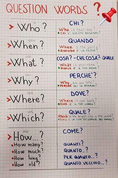 Italian Grammar, Italian Vocabulary, Italian Phrases, Italian Words, Italian Quotes, Italian Language, Korean Language, Japanese Language, Dual Language