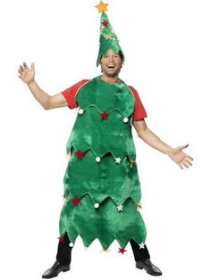 Adults' Deluxe Christmas Tree Fancy Dress Costume