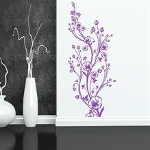 Wallsticker Høj, smuk blomsterdekoration