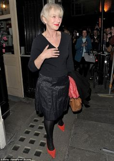The 67-year-old star greeted her fans as she left the Gielgud Theatre last night
